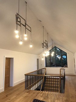 Bespoke lighting - stainless steel and copper